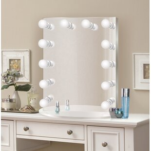 Mirrors with lights youll love wayfair laleia makeupshaving mirror aloadofball Gallery