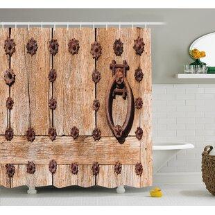 Reviews Asuka Rusty Spanish Entrance Shower Curtain ByLoon Peak