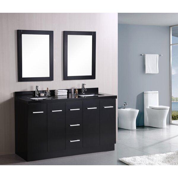 Ridge 60 Double Bathroom Vanity Set by Home Loft Concepts