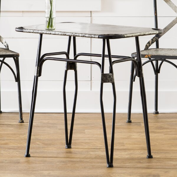 Nguyet Metal Dining Table by Gracie Oaks