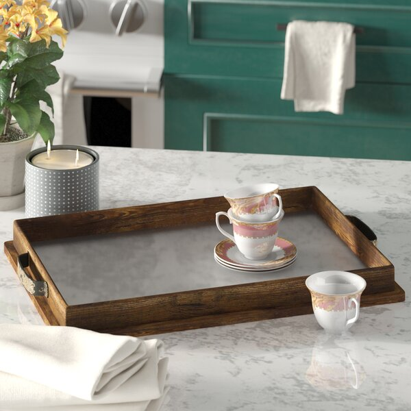 Liptak Rectangle Brown/White Yachting Tray by Darby Home Co