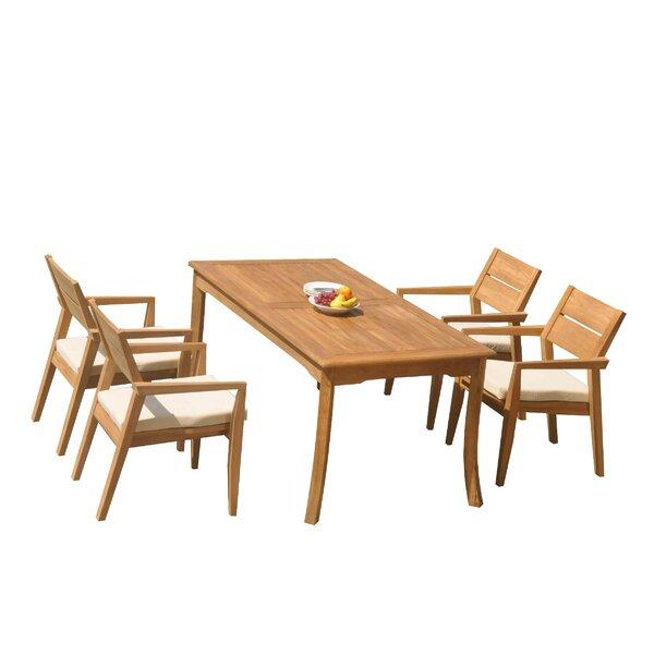 Maston 5 Piece Teak Dining Set by Rosecliff Heights