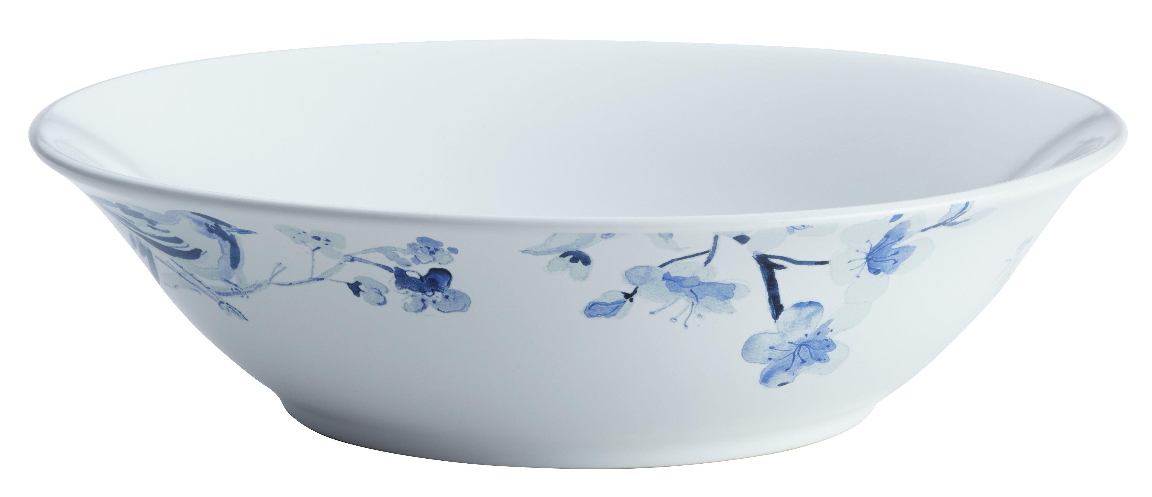 Paula Deen Indigo Blossom Stoneware Round Serving Bowl | Wayfair