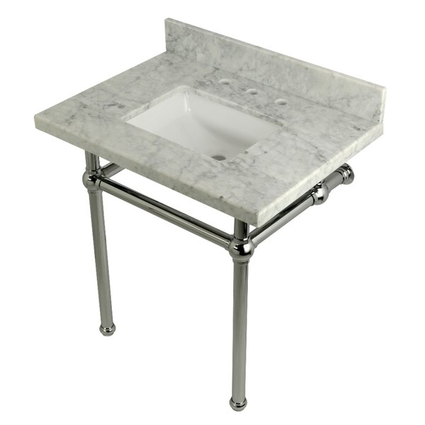 Carrara Marble 22 Single Bathroom Vanity Set by Kingston Brass