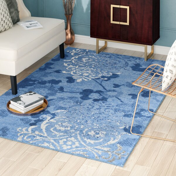 Frizzell Light Blue&Dark Blue Area Rug by Willa Arlo Interiors