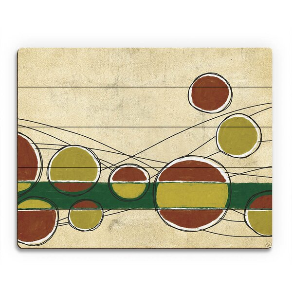 Bar Bubbles Yellow and Red Painting Print on Plaque by Click Wall Art