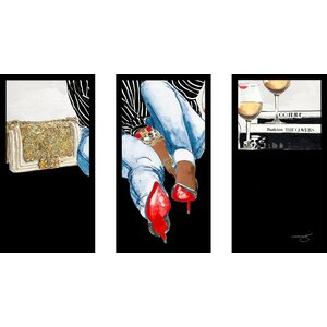'Waiting on You' Framed Painting Print Multi-Piece Image on Glass by House of Hampton