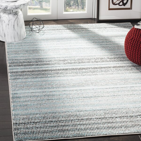 Cohn Blue/Gray Area Rug by Wrought Studio