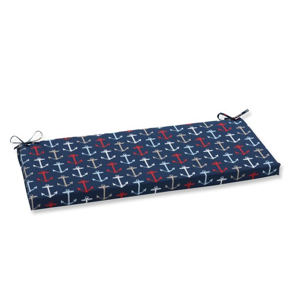 Anchor Allover Indoor/Outdoor Bench Cushion by Pillow Perfect
