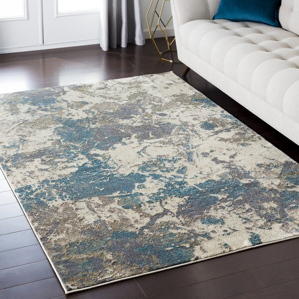 Camillei Blue/Brown Area Rug by Mistana