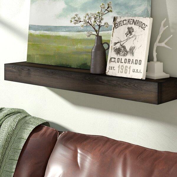 Garvon Floating Shelf Solid Wood Handmade Rustic Style Shelf by Union Rustic