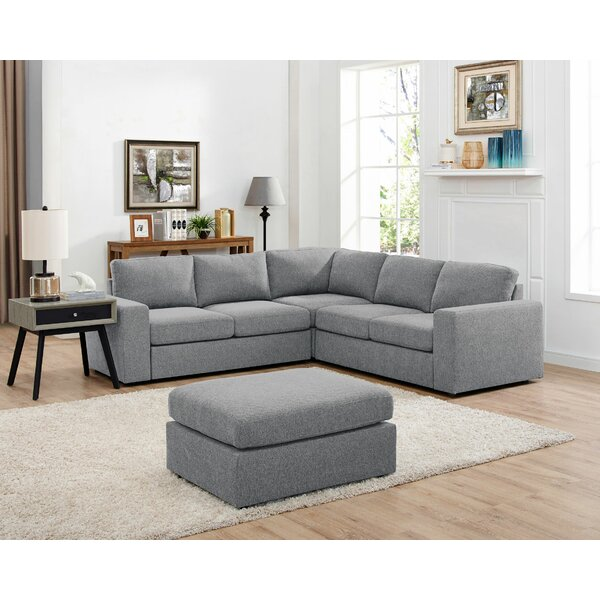 Fine Quality Angelia Reversible Sectional with Ottoman by Ivy Bronx by Ivy Bronx
