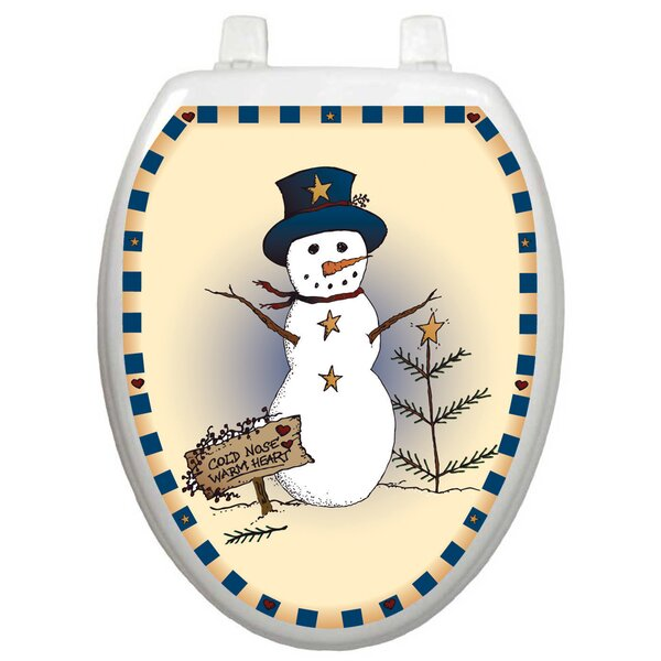 Holiday Snowman Toilet Seat Decal by Toilet Tattoos