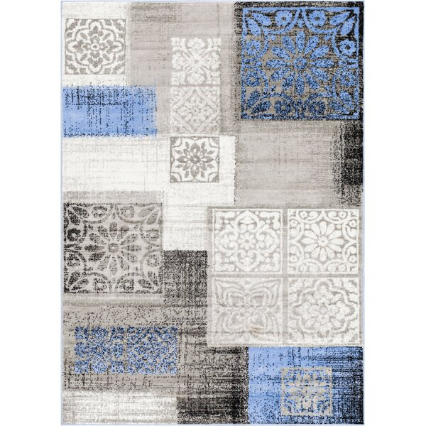 Ash Pronto Modern Blue Indoor Area Rug by Well Woven