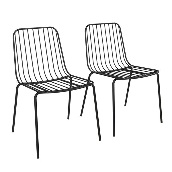 Bourquin Wire Dining Chair (Set of 2) by Hashtag Home