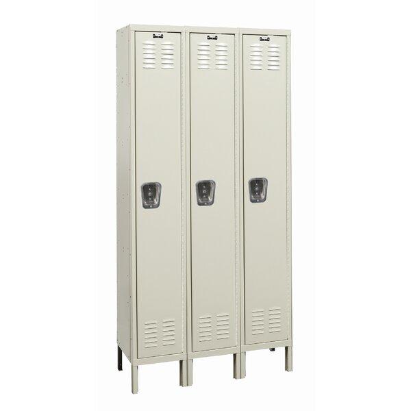 Galvanite 1 Tier 3 Wide School Locker by Hallowell