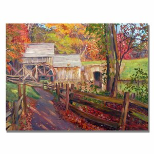 'Memories of Autumn' by David Lloyd Glover Framed Painting Print on Canvas by Trademark Fine Art
