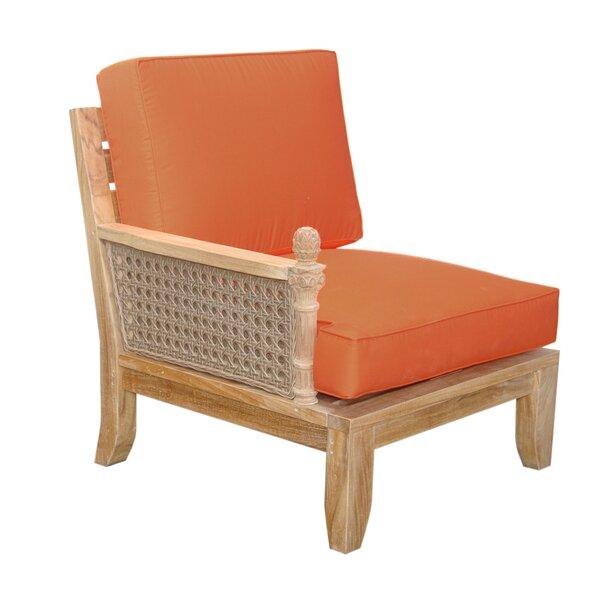 Bowyer Teak Right Arm Patio Chair with Sunbrella Cushions by Freeport Park Freeport Park