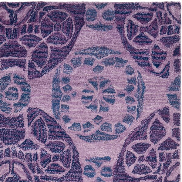 One-of-a-Kind Kouerga Hand-Tufted Wool Purple Area Rug by Bungalow Rose