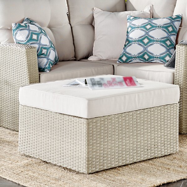 Pangkal Pinang Outdoor Ottoman with Cushion by Highland Dunes