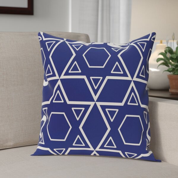 Star of David Quilt Throw Pillow by The Holiday Aisle