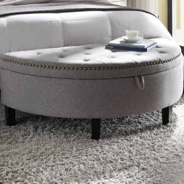 Jacqueline Upholstered Storage Bench by Chic Home