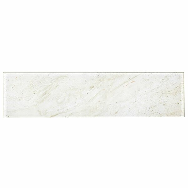 Nature 4 x 16 Glass Subway Tile in Mafil Creme by Abolos
