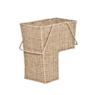 High Quality Wicker Storage Stair Basket With Handles