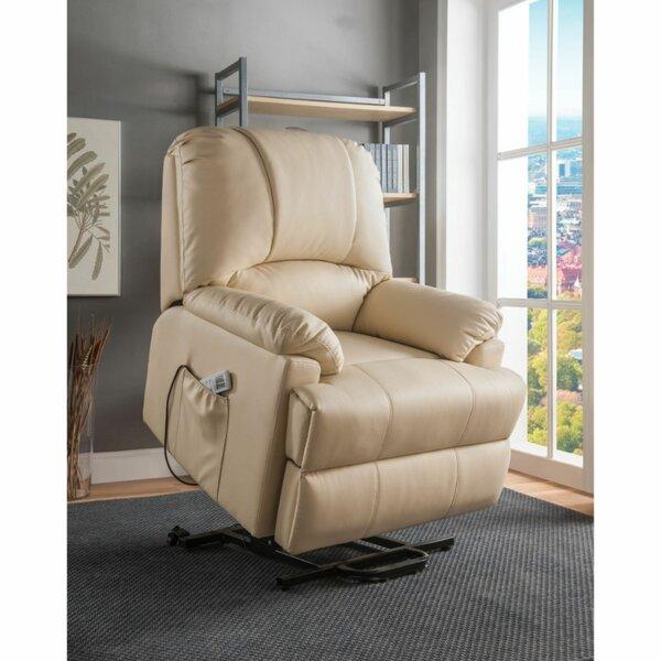 Mulvey Upholstered Power Lift Assist Recliner Red Barrel Studio W000889684