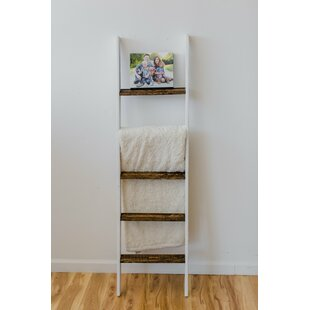 Compare prices Two Tone Rustic 5 ft Blanket Ladder By Gracie Oaks