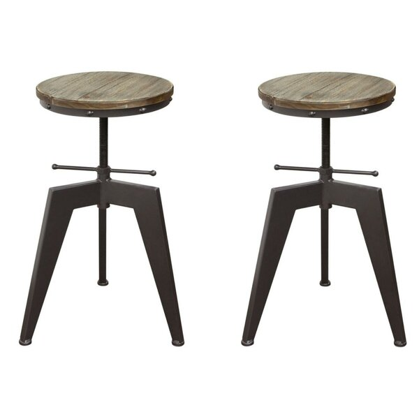 Shelby Adjustable Height Bar Stool (Set of 2) by 17 Stories 17 Stories