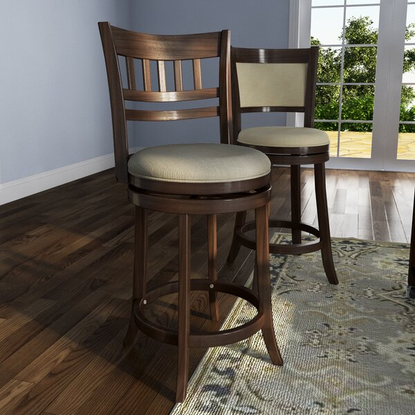 Heartwood 24 Swivel Bar Stool by Three Posts