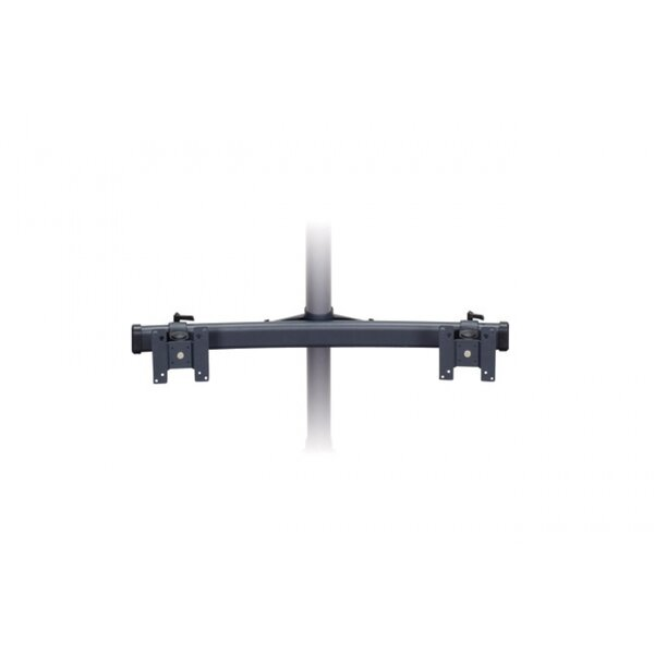 Dual Monitor Curved Bow Arm Tilt/Swivel Pole Mount For Screens By Premier Mounts