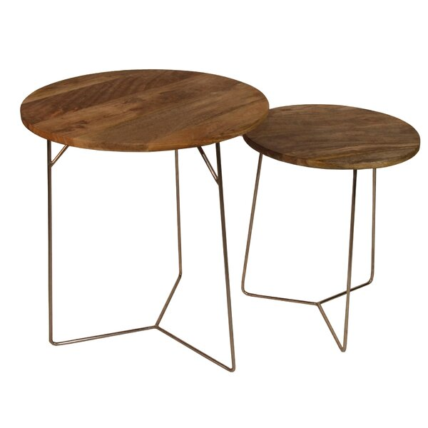 Evanoff 2 Piece Nesting Tables By Union Rustic