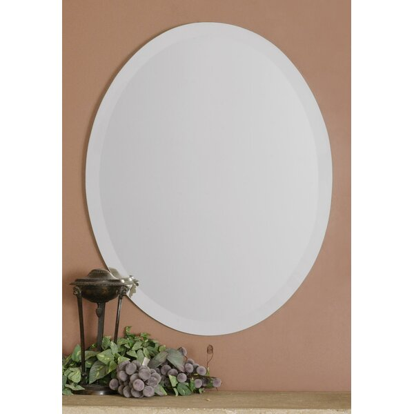 Frameless Vanity Oval Wall Mirror by Red Barrel Studio