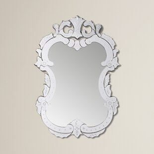Etched Floral Vertical Wall Mirror by Willa Arlo Interiors