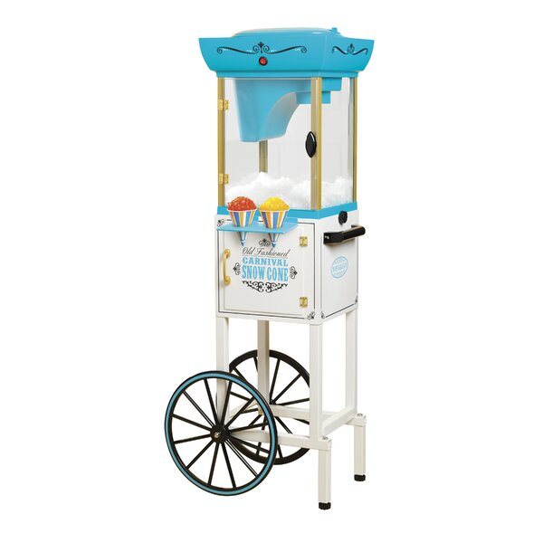 Vintage Collection Snow Cone Cart Machine by Nostalgia