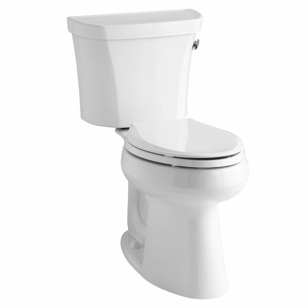 Highline Comfort Height Two-Piece Elongated 1.28 GPF Toilet with Class Five Flush Technology, Right-Hand Trip Lever and Insuliner Tank Liner by Kohler