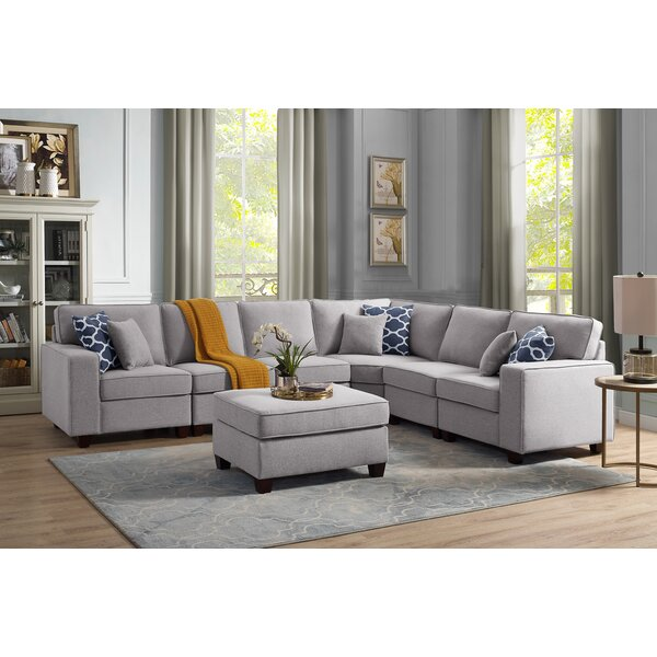 Nido Aries Modular Sectional with Ottoman by Winston Porter