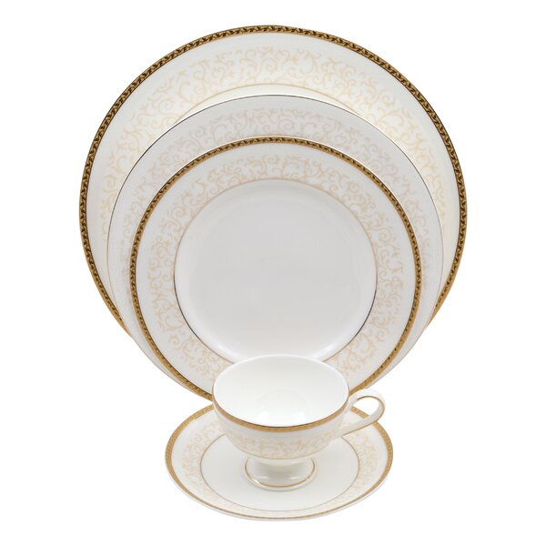 Daniela 5 Piece Bone China Place Setting, Service for 1 (Set of 4) by Shinepukur Ceramics USA, Inc.