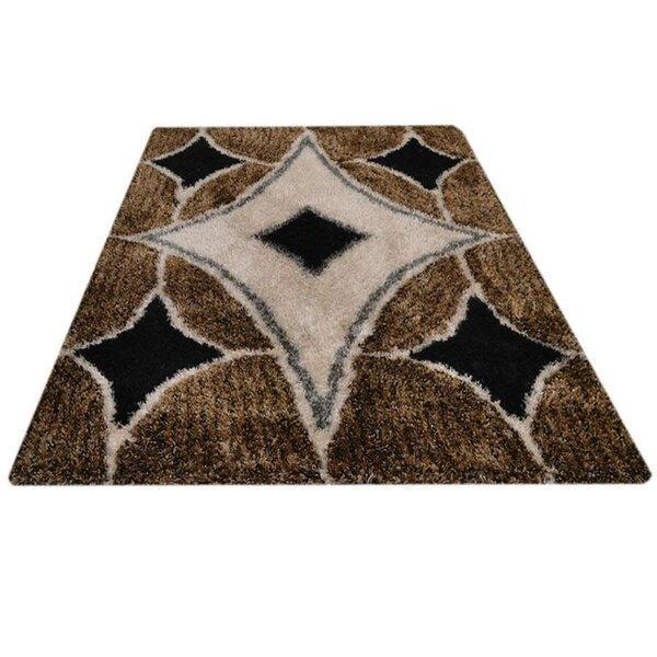 Eastford Shag Contemporary Hand-Tufted Black/Beige/Brown Area Rug by Ivy Bronx