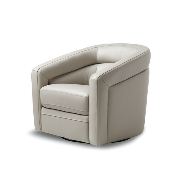 Pothier Swivel Barrel Chair by Orren Ellis Orren Ellis