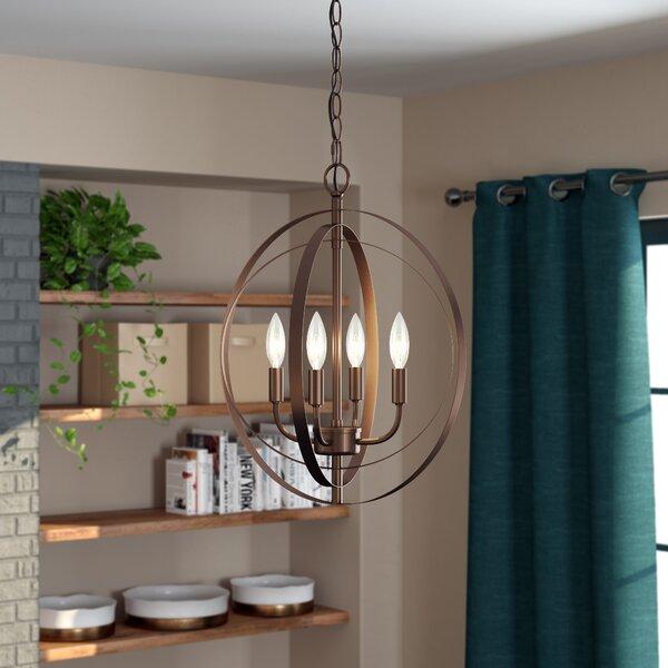 Gurney Slade 4-Light Candle Style Globe Chandelier By Wrought Studio