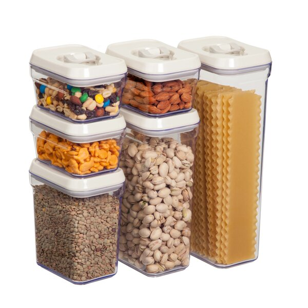 6 Piece Kitchen Canister Set By Honey Can Do.