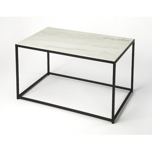 Best Reviews Gettys Marble/Metal Coffee Table By Ivy Bronx