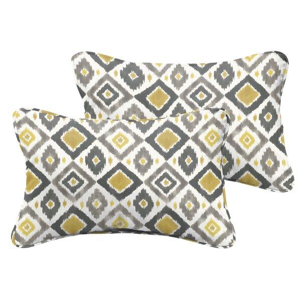 Socoma Indoor/Outdoor Lumbar Pillow Set (Set of 2) by Bungalow Rose