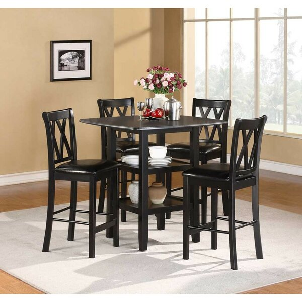 Brielle 5 Piece Counter Height Dining Set (Set of 5) by Alcott Hill