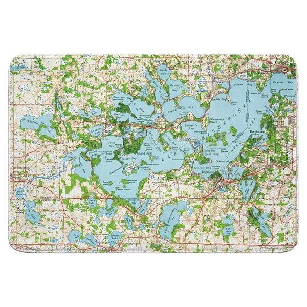 Nautical Chart Lake Minnetonka MN (1958) Rectangle Memory Foam Non-Slip Bath Rug