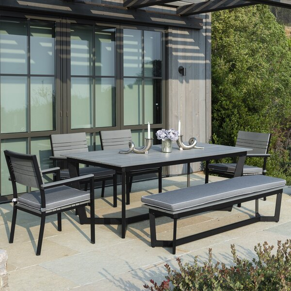 Ilsa 6 Piece Dining Set with Cushions by Latitude Run