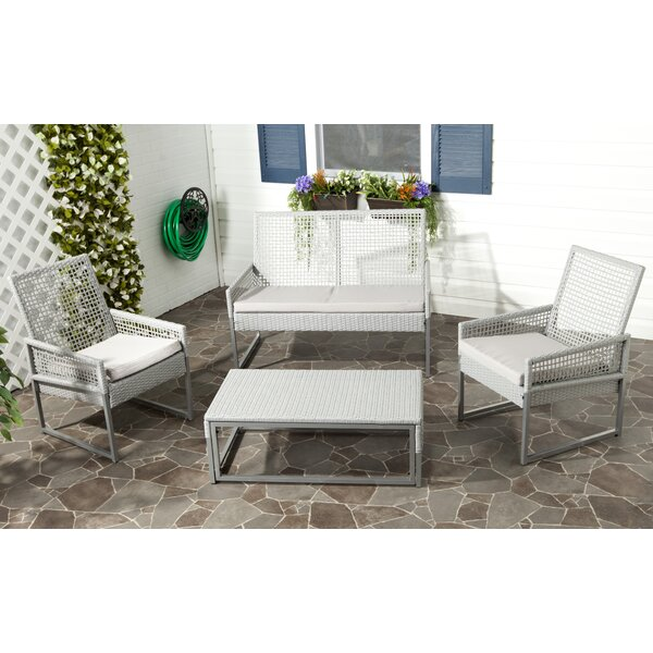 Lilly 4 Piece Sofa Set with Cushions by Beachcrest Home